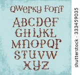 vintage quirky hand drawn font... | Shutterstock .eps vector #333459035