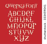 vintage quirky hand drawn font... | Shutterstock .eps vector #333459041