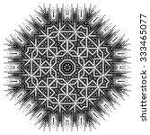 ornate ethnic mandala or... | Shutterstock .eps vector #333465077
