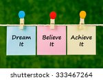 word quotes of dream it ... | Shutterstock . vector #333467264