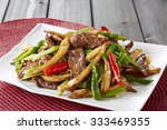 chinese cuisine beef  | Shutterstock . vector #333469355