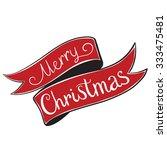 Ribbon Merry Christmas Vintage...
