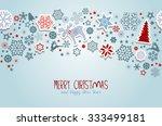 merry christmas. blue christmas ... | Shutterstock .eps vector #333499181