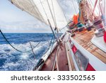 sail boat navigating on the... | Shutterstock . vector #333502565
