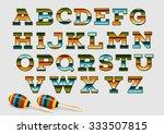 Mexican Ethnic Cloth Alphabet....