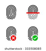 set of fingerprint icons