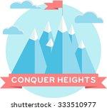 high mountains. flat design.... | Shutterstock .eps vector #333510977
