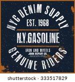 new york t shirt graphic | Shutterstock .eps vector #333517829