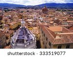 Aerial view of the center of Pistoia, Tuscany, Italy