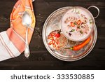 soup from seafood  octopus ... | Shutterstock . vector #333530885