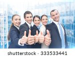 group of thumbing up business... | Shutterstock . vector #333533441