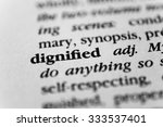 dignified | Shutterstock . vector #333537401