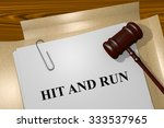 render illustration of hit and... | Shutterstock . vector #333537965
