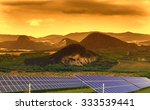landscape with solar panels in... | Shutterstock . vector #333539441