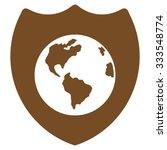 earth shield vector icon. style ... | Shutterstock .eps vector #333548774