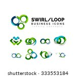 set of infinity concepts  loop... | Shutterstock .eps vector #333553184