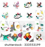 set of abstract geometric paper ...