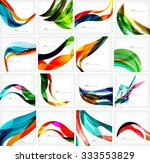 set of colorful flowing motion... | Shutterstock .eps vector #333553829