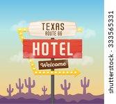 vector retro sign pointer ... | Shutterstock .eps vector #333565331