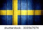 Sweden  Flag On Old Wood...