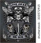 vintage motorcycle label   Shutterstock .eps vector #333572915