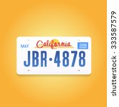 license plate vector | Shutterstock .eps vector #333587579