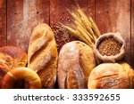 Assortment Of Baked Bread On...