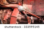 Old Car Gear Lever Focus On Th...