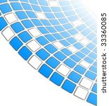 the blue vector abstract... | Shutterstock .eps vector #33360085
