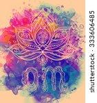 ornamental boho style lotus... | Shutterstock .eps vector #333606485