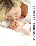 baby with mother | Shutterstock . vector #33360778
