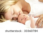 baby with mother | Shutterstock . vector #33360784