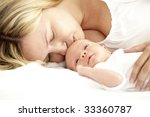 baby with mother | Shutterstock . vector #33360787