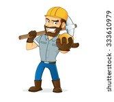 miner holding gold | Shutterstock .eps vector #333610979