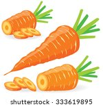 Vector Carrots. Sliced Carrots...