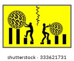 career disparity. concept sign...   Shutterstock . vector #333621731