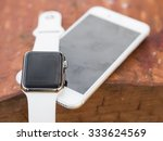 connected behind smart phone... | Shutterstock . vector #333624569