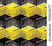 vector cubes seamless pattern | Shutterstock .eps vector #333624677