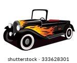 Vintage Black Hotrod