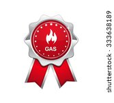 gas sign red vector icon design   Shutterstock .eps vector #333638189