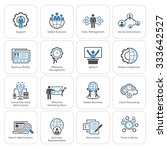 flat design icons set. business ... | Shutterstock .eps vector #333642527
