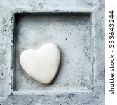 Heart In Frame Made In Stone ...