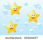 character illustration of stars ... | Shutterstock .eps vector #33364657