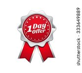 1 day offer red vector icon... | Shutterstock .eps vector #333649889