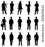 set of professionals people... | Shutterstock .eps vector #333653621