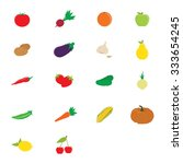 raster illustration flat fruit... | Shutterstock . vector #333654245