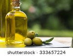 olives and oil | Shutterstock . vector #333657224