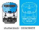 Cargo Train Illustration Front...