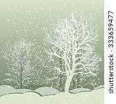 Vector Of Winter Scene With...
