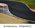 race track curve road for car... | Shutterstock . vector #333663311